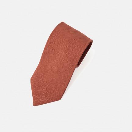 Capri 橘色丝麻肌理领带