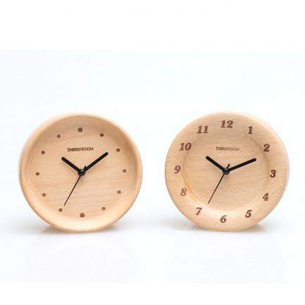 简约复古 原木窄边时钟闹钟 (两款可选)