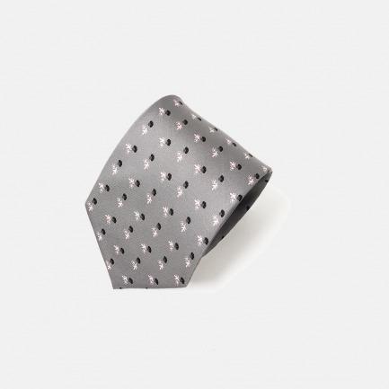 100%高级桑蚕丝印花领带 | Giacobbe系列 高级真丝制作 经典百搭绅士必备【 灰色】