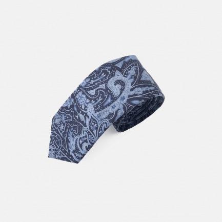 复古印花领带 | Paisley系列经典百搭绅士必备【蓝色】