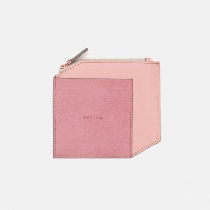 拼皮零钱包 | 轻薄简洁手工打造【粉色】