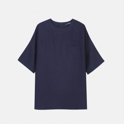 短袖套头衬衫 | 丝麻混纺 宽松舒适【两色可选】