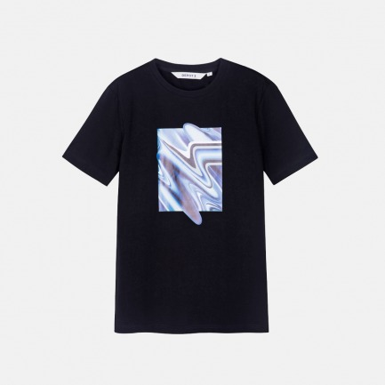 波纹图案T恤 |  厚实柔软 舒适自如【三色可选】