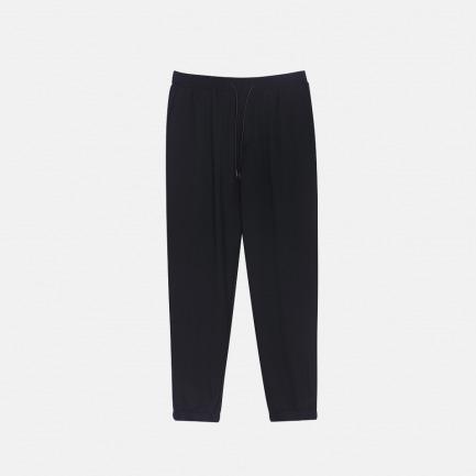 针织慢跑裤 | 可调节抽绳 舒适轻薄【黑色】