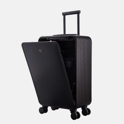 登机旅行箱 | 轻金属竖开合收纳设计 矅石黑升级版【20寸】