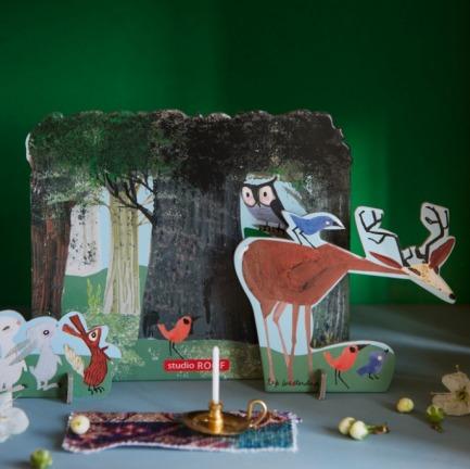 森林猫头鹰纸模型 | Pop Out Story 故事系列