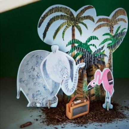 大象丛林纸模型 | Pop Out Story 故事系列
