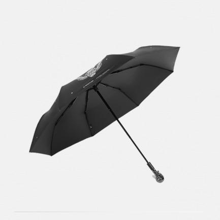 幻想翅膀骷髅头三折雨伞 | 骷髅玫瑰花 时尚绽放温情