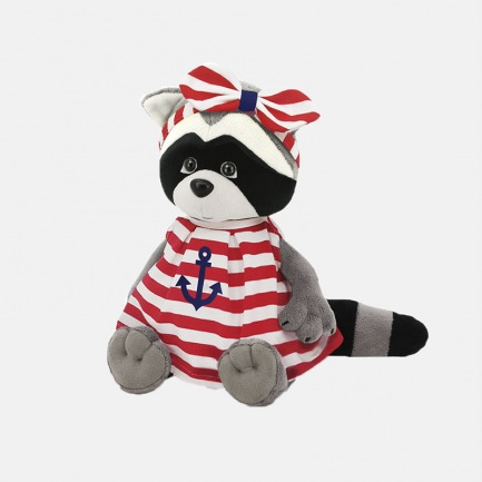 Daisy浣熊(条纹裙-红)玩偶 | 送给孩子最好的礼物28cm/42cm