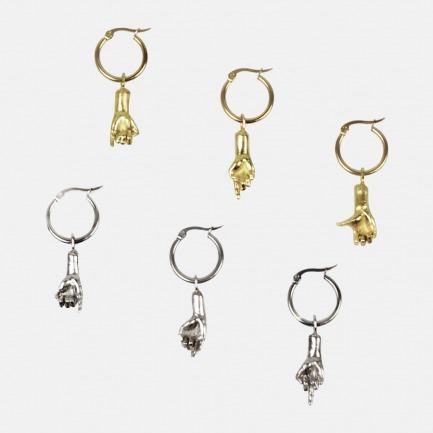 镀金耳环单只 | 「WAU」六脉神剑系列 18K镀金材质【多款可选】