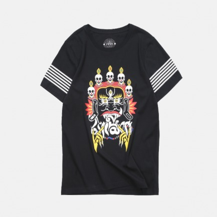 藏戏面具T恤 |神秘印花图案 古老宗教元素设计【情侣款】