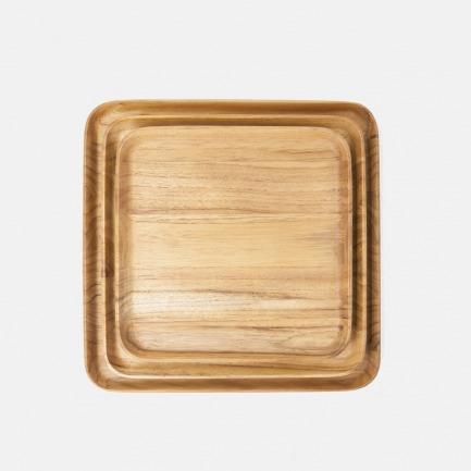 柚木方形盘【两号可选】 | 原木打造,设计简约