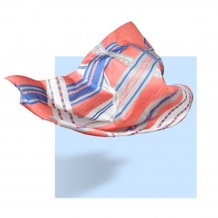 CAPTURE 丝棉几何图案大长巾 | 原创设计师品牌