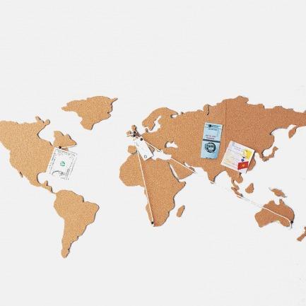 英国Luckies 软木留言板世界地图 | 记录下人生旅途