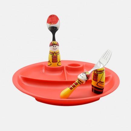儿童餐盘三件套 | 手绘设计风格 可爱创意儿童餐具【多款可选】