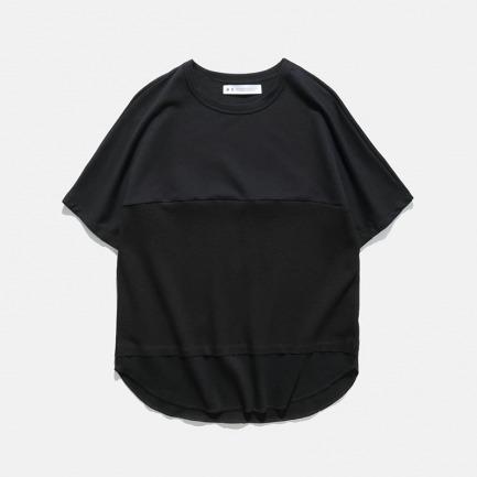 连肩蝙蝠袖面料拼接T恤 | 17S/S DOLMAN FABRICS MIX CUT TEE