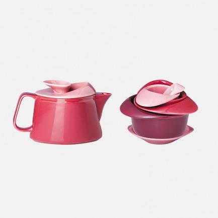 玫瑰花茶具套装 | 泡一壶好茶 享受温馨时光【三色可选】