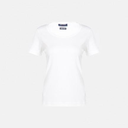圆领纯色短袖T恤 白色 | 条纹衫鼻祖 众多明星同款