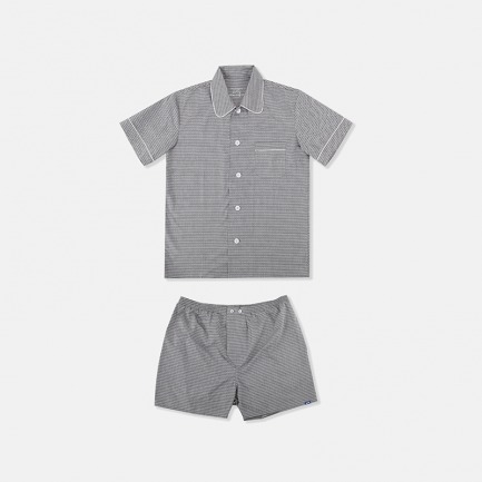 Ethan男士短袖短裤睡衣套装
