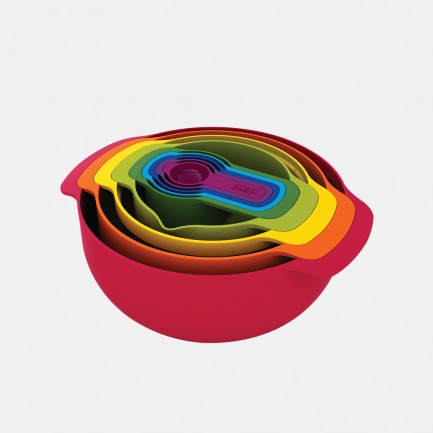 彩虹色创意厨具暖色9件套 | 多功能 易收纳 节省空间
