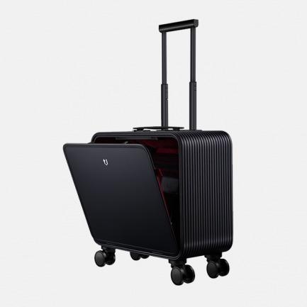 登机旅行箱 |  轻金属竖开合收纳设计 按键即开 站着就能轻松取物【矅石黑16寸】