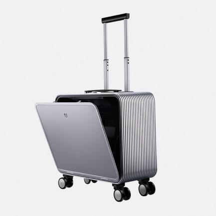 登机旅行箱 |  轻金属竖开合收纳设计 按键即开 站着就能轻松取物【钻石银16寸】