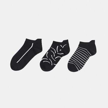 黑白线条短袜礼盒