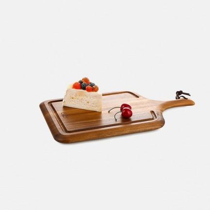 把手料理板 | 泰国进口相思木 韧性好 不伤刀 耐磨耐腐【两号可选】