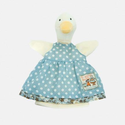 波点小蓝裙可爱鸭子手偶