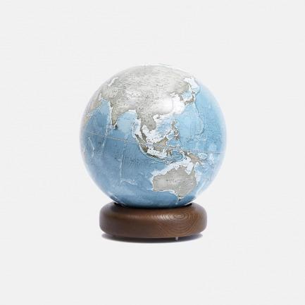 实木标准圆底地球仪【冰川蓝】