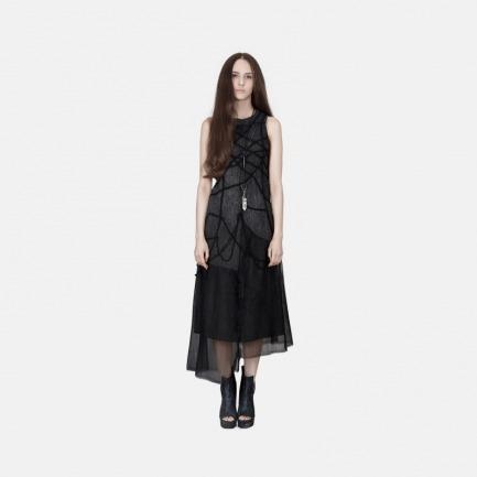 不规则拼接绣花连衣裙 | 独立原创设计师品牌