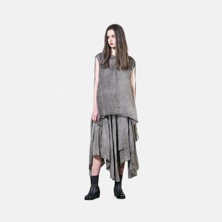 做旧休闲不规则抽绳百搭半裙 | 独立设计师品牌原创