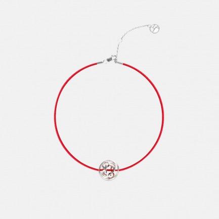 「上下」爱马仕旗下品牌 如意幸运珠红绳手链 925银如意挂坠