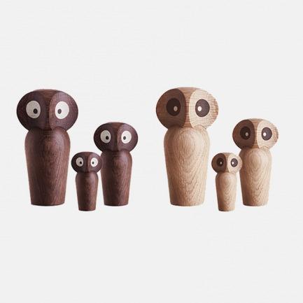 Owl 猫头鹰手工木质摆件 | 神秘和智慧的象征 2色可选