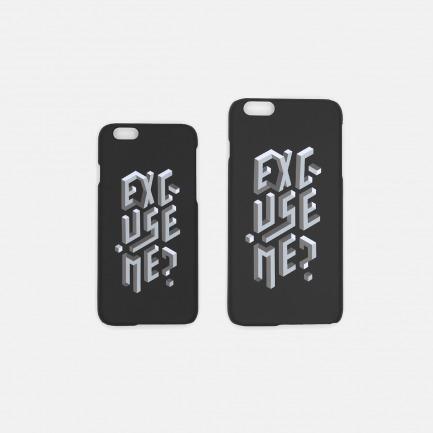 EXCUSE ME 手机壳-黑色 |【多种尺寸】