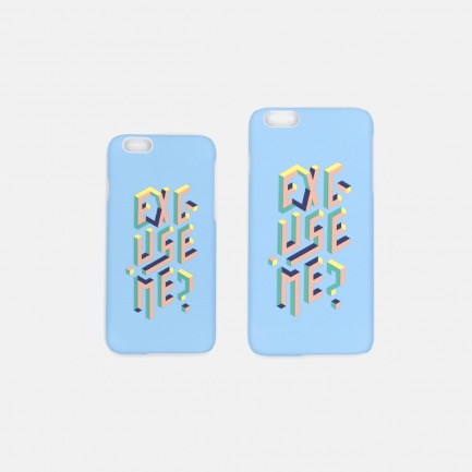 EXCUSE ME 手机壳-蓝色 |【多种尺寸】