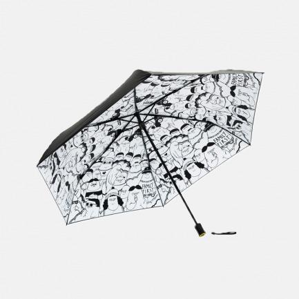 PuffVille 三折黑胶伞 | 设计师联名系列 迷你便携 强效防晒