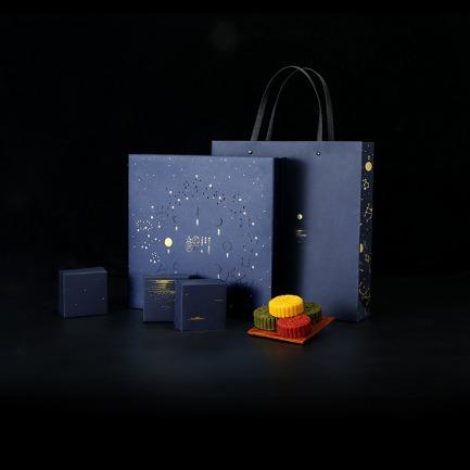 「众星捧月」月饼礼盒 | 一款可转动的月饼盒
