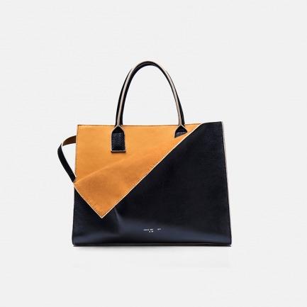 独立设计品牌 自然下垂的撞色手提包