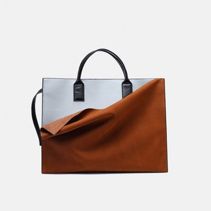 独立设计品牌 大容量撞色手提旅行袋