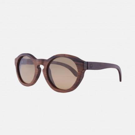 欧洲手工实木制墨镜- Retro Series-Rosewood玫瑰木-冷凛棕镜片色