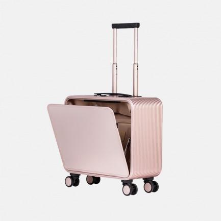 登机旅行箱 | 轻金属竖开合收纳设计 按键即开 站着就能轻松取物【玫瑰金16寸】