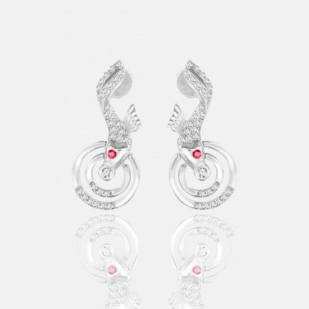 涟漪系列天然红宝石耳坠 | 原创独立设计