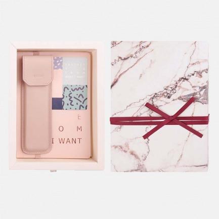 读书伴侣礼盒 | 牛皮手工笔套+读书笔记本套装
