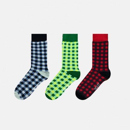 英伦中筒袜多色方格礼盒A | 色彩与空间的碰撞