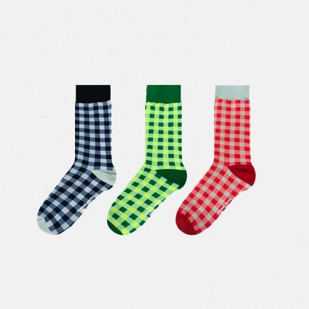 英伦中筒袜多色方格礼盒B | 色彩与空间的碰撞