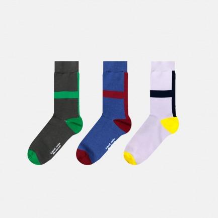 英伦中筒袜创意十字组合A | 色彩与空间的碰撞