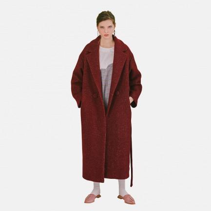【Building Blocks系列】进口羊毛混纺系带廓形大衣|原创设计 【多色可选】