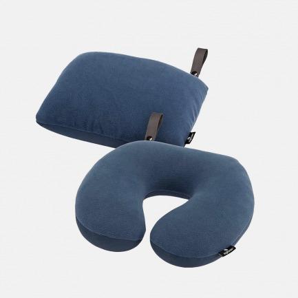 EAGLE CREEK 2合1舒适颈枕 | 多功能旅行腰枕靠垫 U形办公室护颈【多色可选】