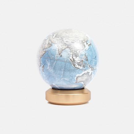 金属标准圆底地球仪英文版【冰川蓝】